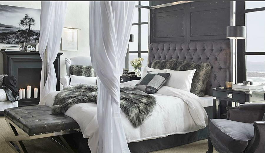 London sänggavel Velvet Artwood CanCan Interiör Inredning på nätet