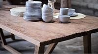 Återvunnet teak  matbord