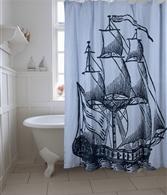 Galleon shower curtain
