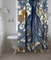 Octopus vineyard shower curtain