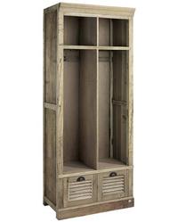 Elmwood skåp utan dörrar